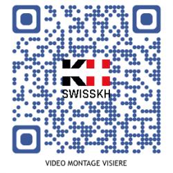 Vidéo du montage de la visière de protection SwissKH
